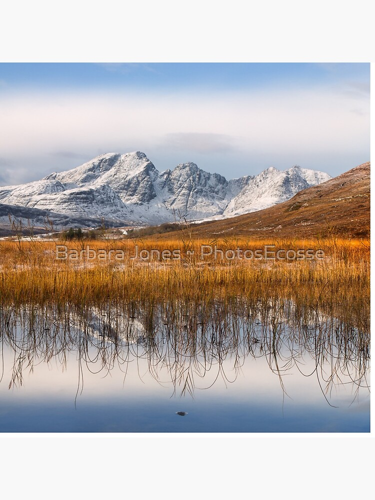 Blaven, Reeds and Snow. Isle of Skye. Scotland. by PhotosEcosse