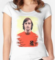 This Is The Legendary Johan Cruijff Women's Fitted Scoop T-Shirt
