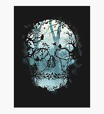 Dark Forest Skull Photographic Print