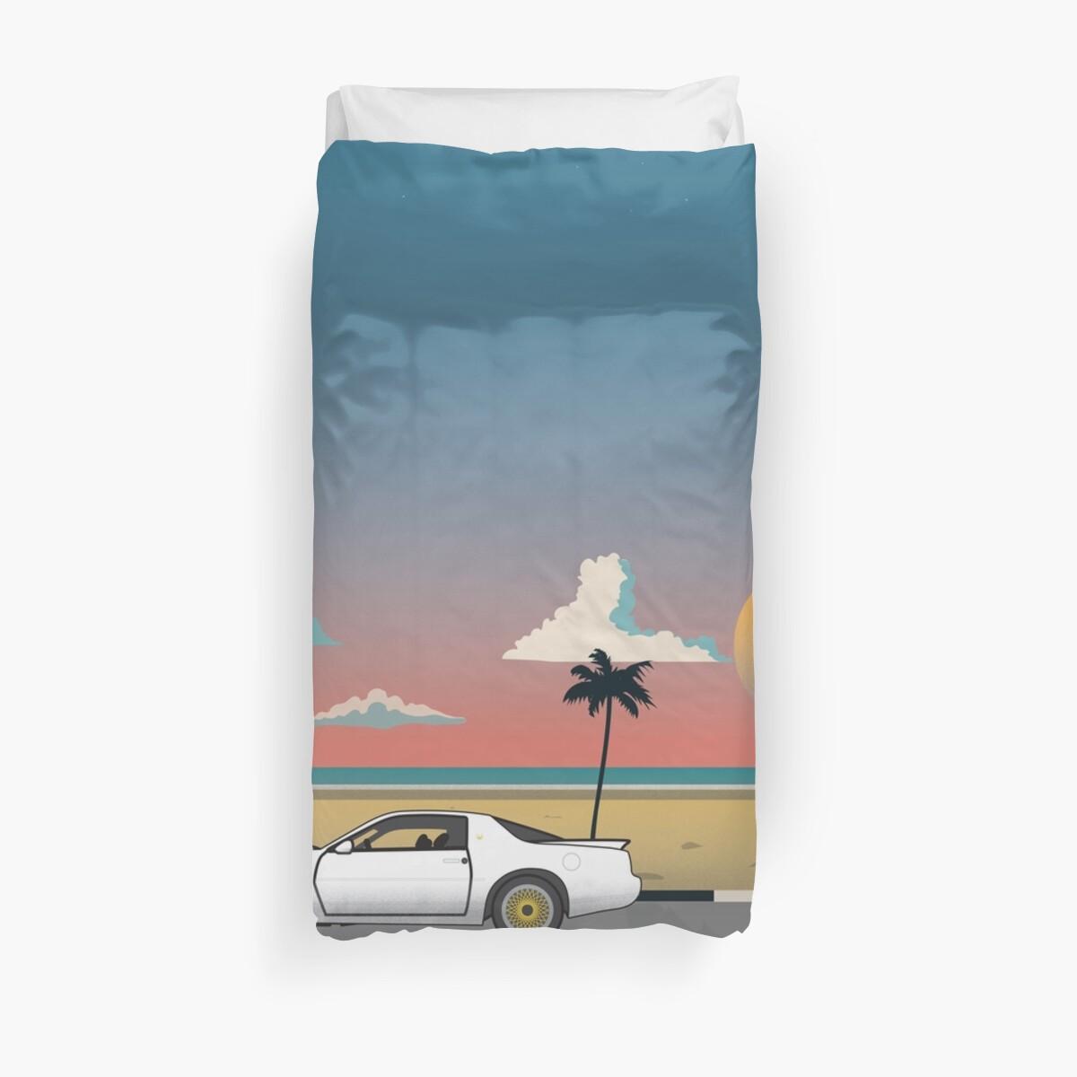 1988 Pontiac Transam Gta Cruising By The Beach Duvet Covers Trans Am Matthew Perrin