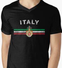 Italian Flag Shirt - Italian Emblem & Italy Flag Shirt T-Shirt