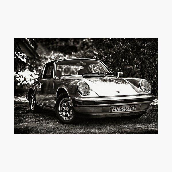 Porsche 911 Targa HDR - B&W Photographic Print