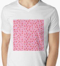 Kosmis Platz in pinky rot T-Shirt mit V-Ausschnitt für Männer