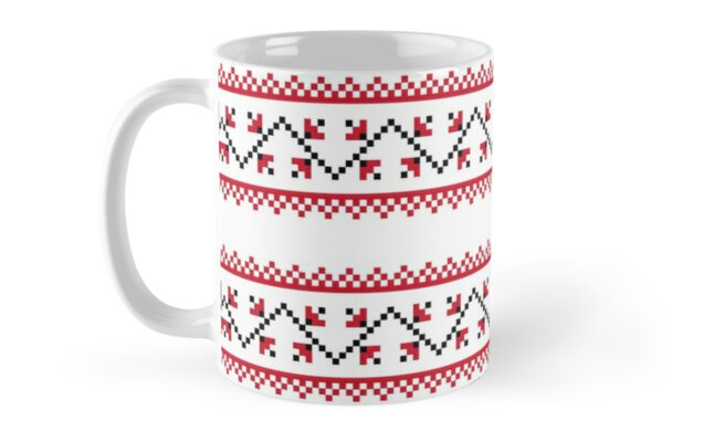Christmas Pattern Winter Snowflake Christmas Gift By Earthlyindigo