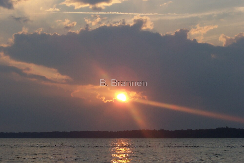 Sunset on the Ocean by B. Brannen