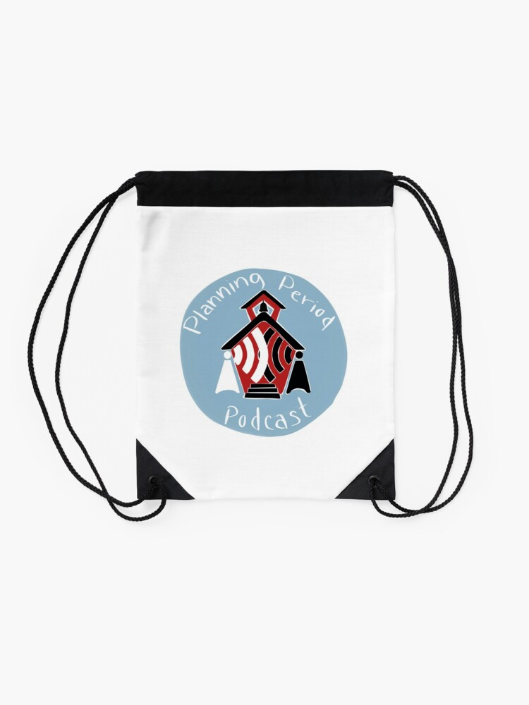 Alternate view of Planning Period Podcast Drawstring Bag