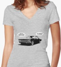 Time travel with Cass Women's Fitted V-Neck T-Shirt