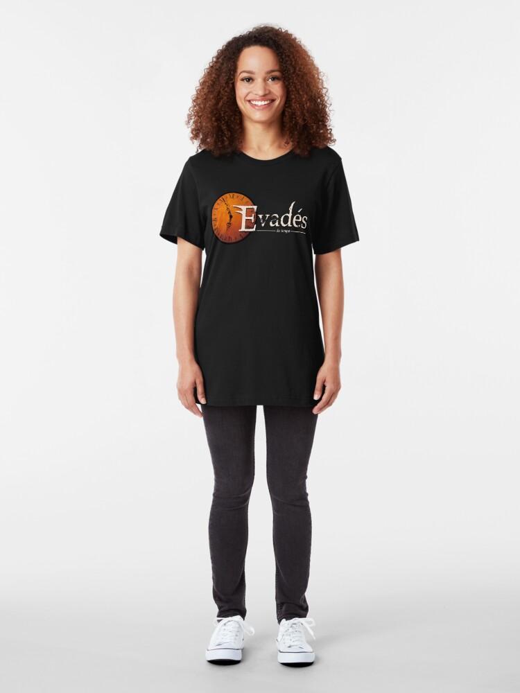 T-shirt ajusté ''Evades du Temps / Time Escapers': autre vue
