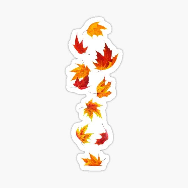 Falling maple leaves Sticker