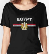 Egyptian Flag Shirt - Egyptian Emblem & Egypt Flag Shirt Women's Relaxed Fit T-Shirt