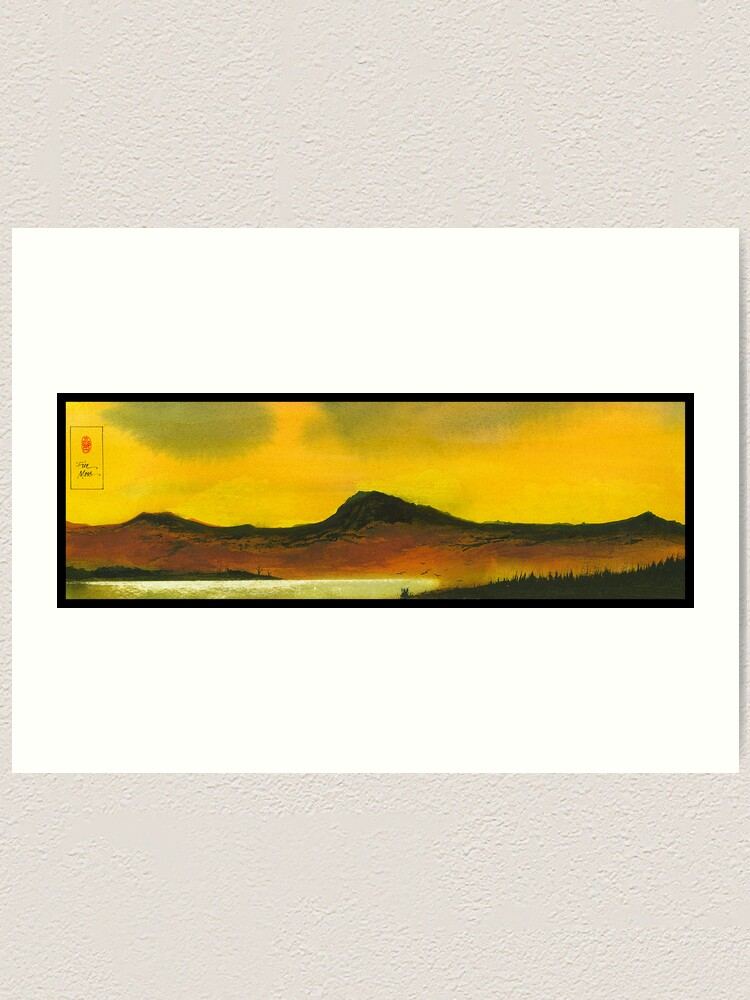 Alternate view of Yellow Sky Art Print