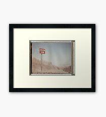 Wrong Way Nevada (8x10 Polaroid) Framed Print