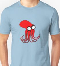 Crawly the Red Giant Pacific Octopus Unisex T-Shirt