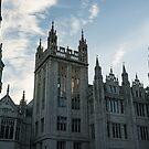 Silver City Architecture - the Magnificent Marischal College at Sunrise by Georgia Mizuleva
