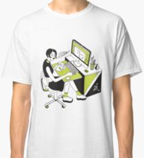 Pc Nerdy Girl in green Classic T-Shirt