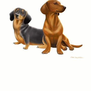Dachshund Doxie Dogs by twopurringcats