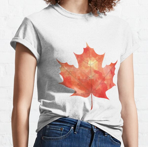 Watercolor Maple Leaf Classic T-Shirt