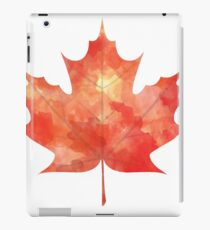 Watercolor Maple Leaf iPad Case/Skin