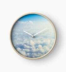 Beautiful Landscape Of Earth Clouds And Blue Horizon Clock