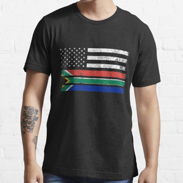 South African American Flag - USA South Africa Shirt Essential T-Shirt