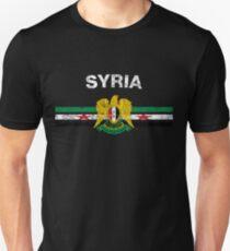 Syrian Flag Shirt - Syrian Emblem & Syria Flag Shirt T-Shirt