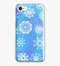 Snow Flake Background. Winter Decorative Ornamental Pattern iPhone Case/Skin