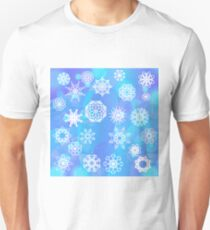 Snow Flake Background. Winter Decorative Ornamental Pattern T-Shirt