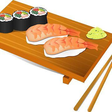 I Love Sushi by Tonbbo