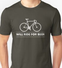 Funny Cycling Design - Will Ride For Beer T-Shirt