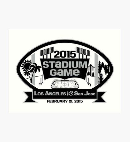 2015 LA Stadium Game - Black Text Art Print