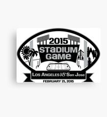 2015 LA Stadium Game - Black Text Canvas Print