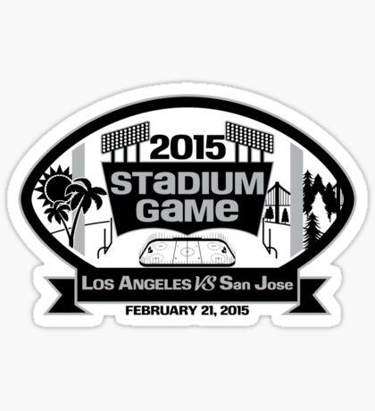 2015 LA Stadium Game - Black Text Sticker