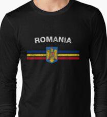 Romanian Flag Shirt - Romanian Emblem & Romania Flag Shirt T-Shirt