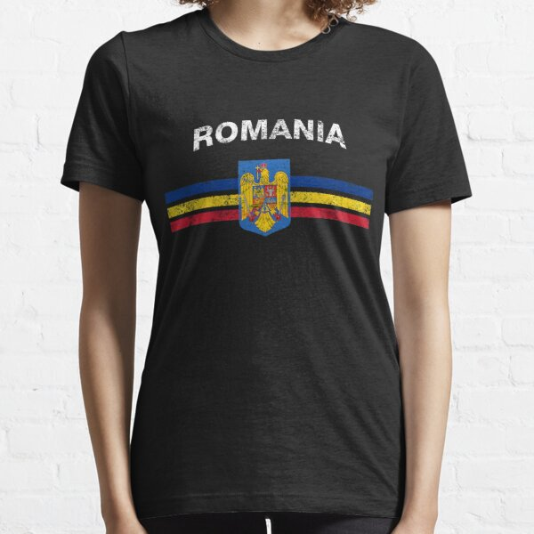 Romanian Flag Shirt - Romanian Emblem & Romania Flag Shirt Essential T-Shirt