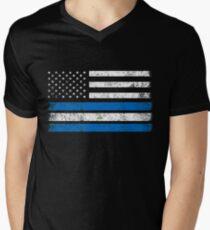 Nicaraguan American Flag - USA Nicaragua Shirt Men's V-Neck T-Shirt