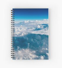 Beautiful Landscape Of Earth Clouds And Blue Horizon Spiral Notebook