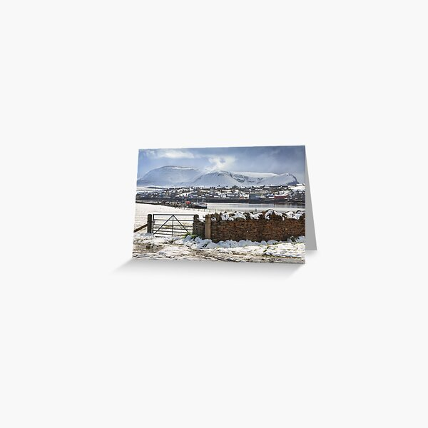 Island of Hoy from Stromness Orkney Mainland Northern Isles. Scotland. Greeting Card