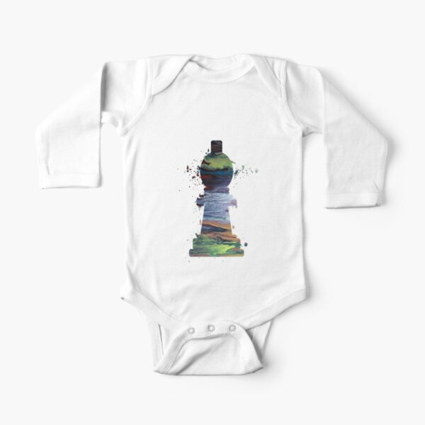 Chess - Bishop Long Sleeve Baby One-Piece