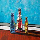 Sunlit Bottles  by George Hunter