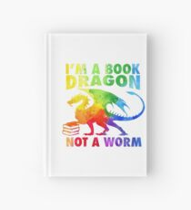 Cuaderno de tapa dura Soy un dragón del libro en Rainbow Acrylic Colour Splatter