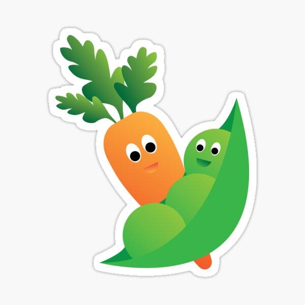 Peas & Carrots Sticker