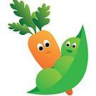 Peas & Carrots by Samm Poirier