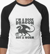 Camiseta ¾ estilo béisbol Soy un dragón libro