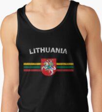 Litauisches Flaggen-Hemd - litauisches Emblem u. Litauen-Flaggen-Hemd Tanktop für Männer