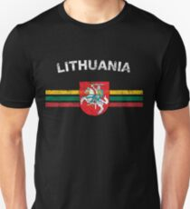 Lithuanian Flag Shirt - Lithuanian Emblem & Lithuania Flag Shirt Unisex T-Shirt