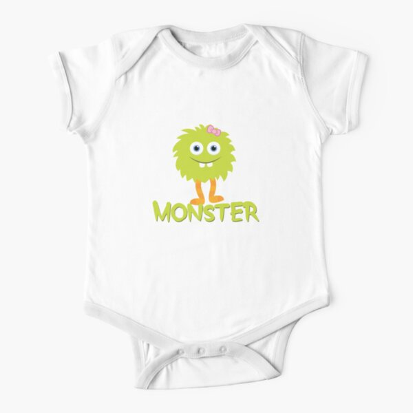 Monster - Child Green Short Sleeve Baby One-Piece