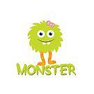 Monster - Child Green by Jessica Cushen