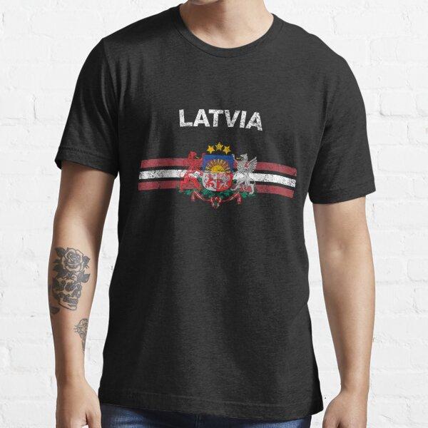 Latvian Flag Shirt - Latvian Emblem & Latvia Flag Shirt Essential T-Shirt
