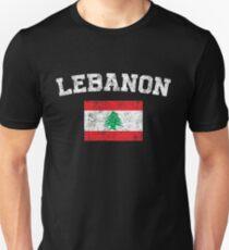 Lebanese Flag Shirt - Vintage Lebanon T-Shirt Unisex T-Shirt