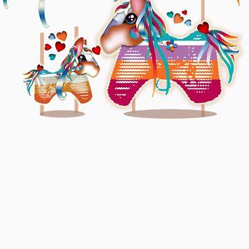 Magic Merry Go Round Ponies TShirt by migaloomagic